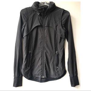 LULULEMON black zip Jacket coat 4 euc